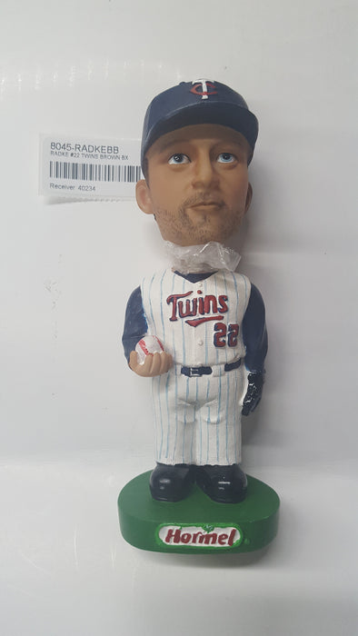 RADKE #22 TWINS BROWN BX Bobblehead