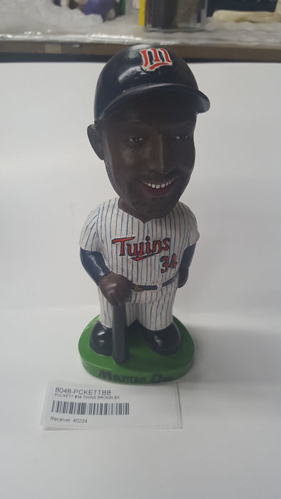 PUCKETT #34 TWINS BROWN BX Bobblehead