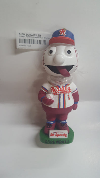 SCREWBALL #1 READING PHILLIES BROWN BOX Bobblehead