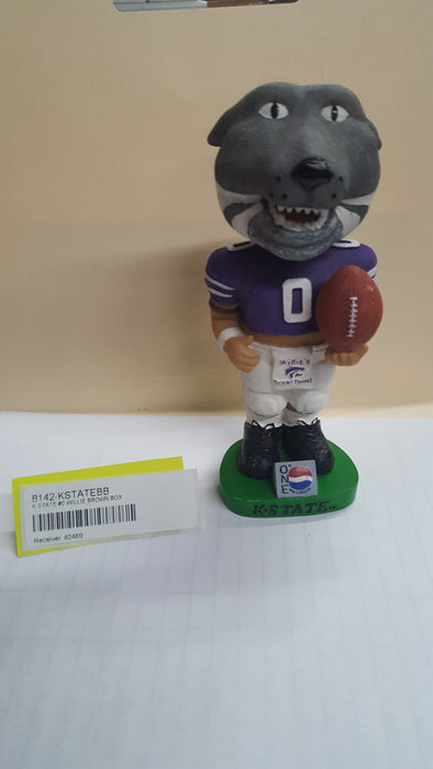 K STATE #0 WILLIE BROWN BOX Bobblehead