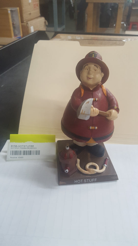 HOT STUFF FIREMAN BROWN BOX Bobblehead