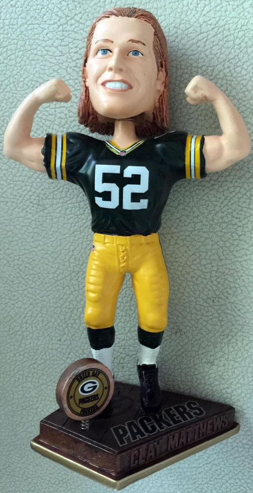 2015 Clay Matthews Flexing Bobblehead Green Bay Packers Bobblehead