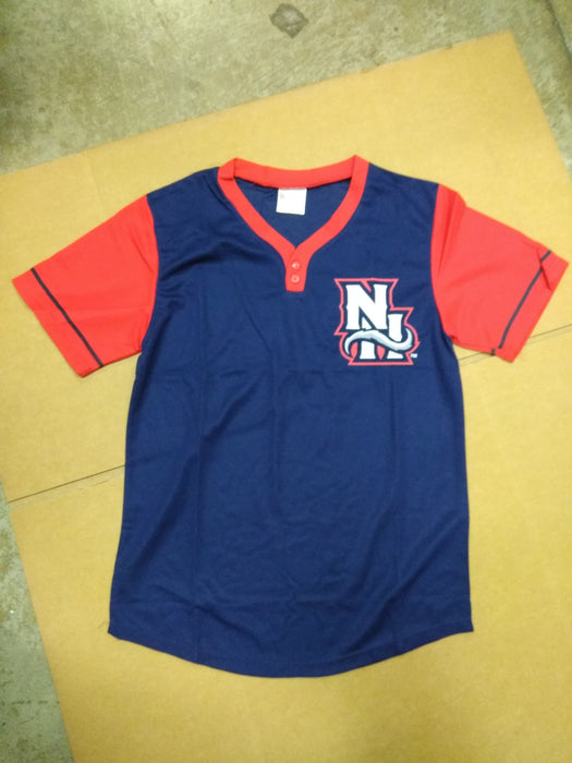 Nh Fishercats Shirt Blue And Red Youth Xl New Hampshire Fishing Cats Bobblehead