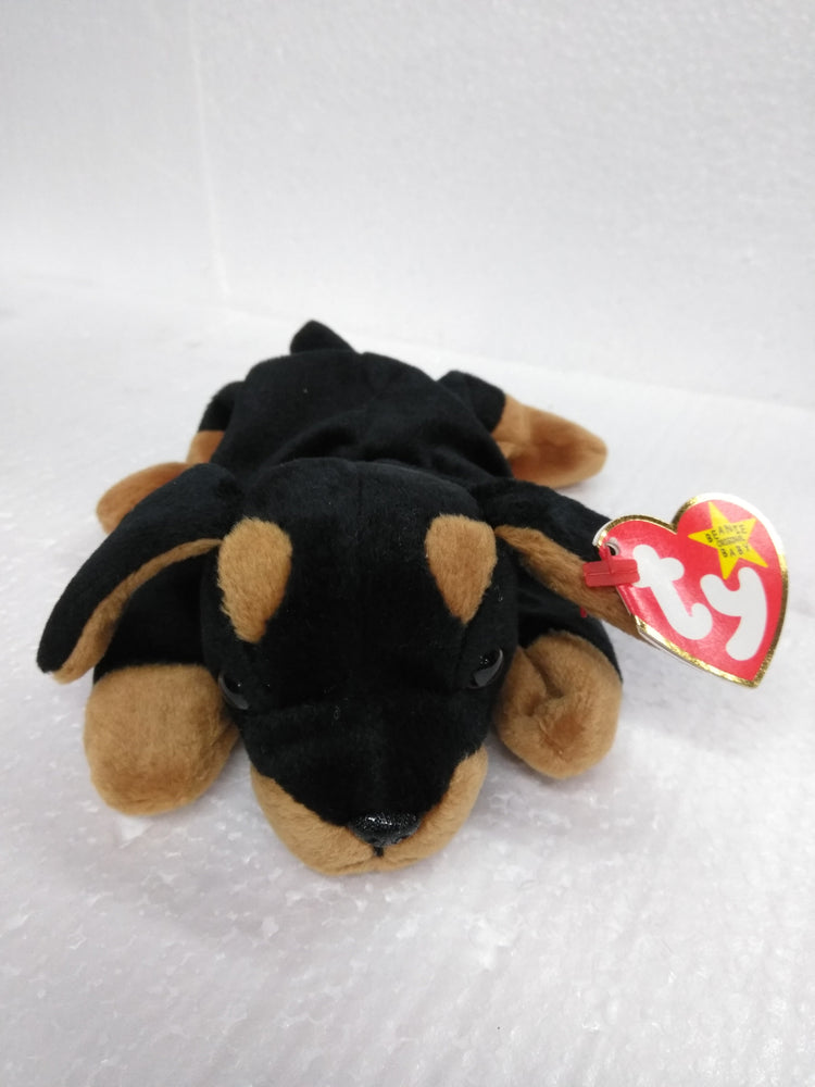 DOG BEANIE BABY TY DOBY — BobblesGalore d032bf7f40e