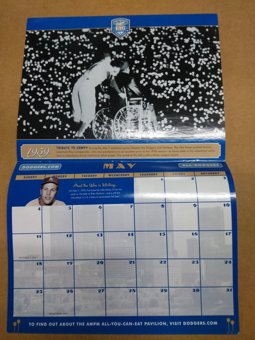 Dodgers 50Th Anniv Calendar 1958-2008 Los Angeles Dodgers Bobblehead