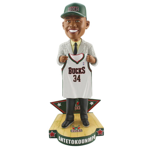 Giannis Antetokounmpo Milwaukee Bucks NBA Draft Day Bobblehead