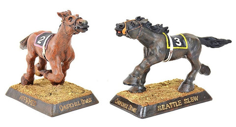 Seattle Slew and Affirmed Bobblehead Set - BobblesGalore