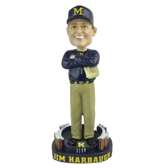 John Harbaugh University of Michigan Coach Bobblehead