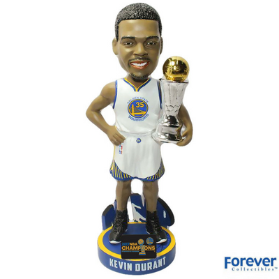 Kevin Durant - MVP Golden State Warriors 2017 NBA Champions Bobbleheads - National Bobblehead HOF Store