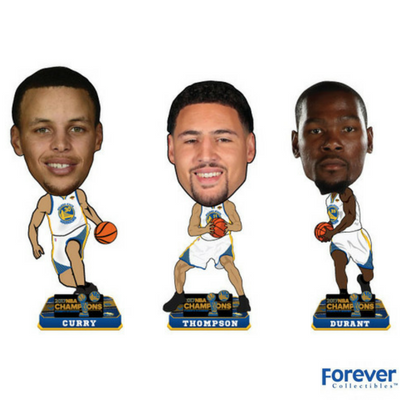3-Pack Mini Set Golden State Warriors 2017 NBA Champions Bobbleheads - National Bobblehead HOF Store