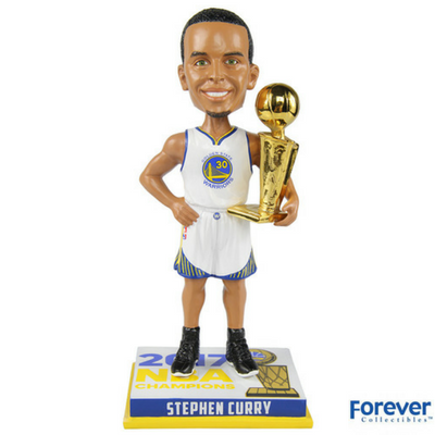 Stephen Curry Golden State Warriors 2017 NBA Champions Bobbleheads - National Bobblehead HOF Store