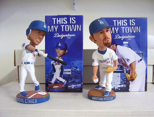 Andre Either and Jonathan Broxton Bobblehead Set - BobblesGalore