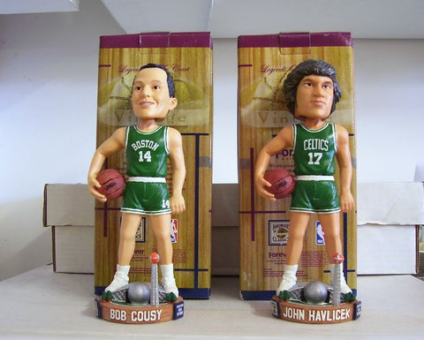 Bob Cousy and John Havlicek Bobblehead Set