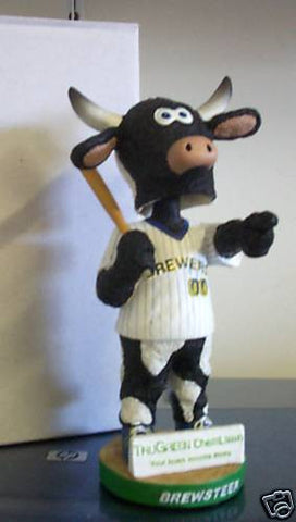 Brewsteer Mascot Bobblehead (Missing Bat) - BobblesGalore