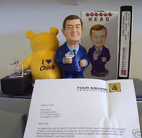 Chick Hearn Collectable Bobblehead Set - BobblesGalore