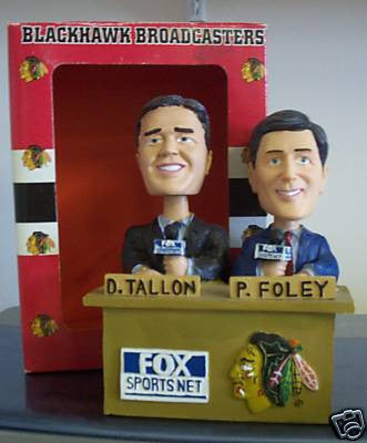 Dale Tallon and Pat Foley Dual Bobblehead - BobblesGalore