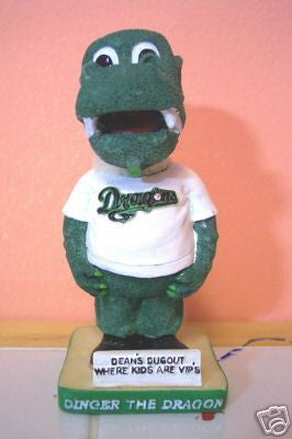 Dinger the Dragon Mascot Bobblehead - BobblesGalore
