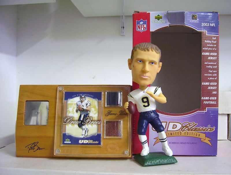 Drew Brees Bobblehead, Ball, and Jersey