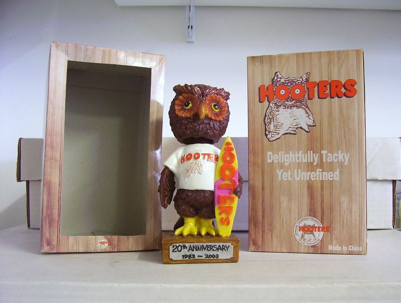 Hooters Surfing Owl Bobblehead - BobblesGalore