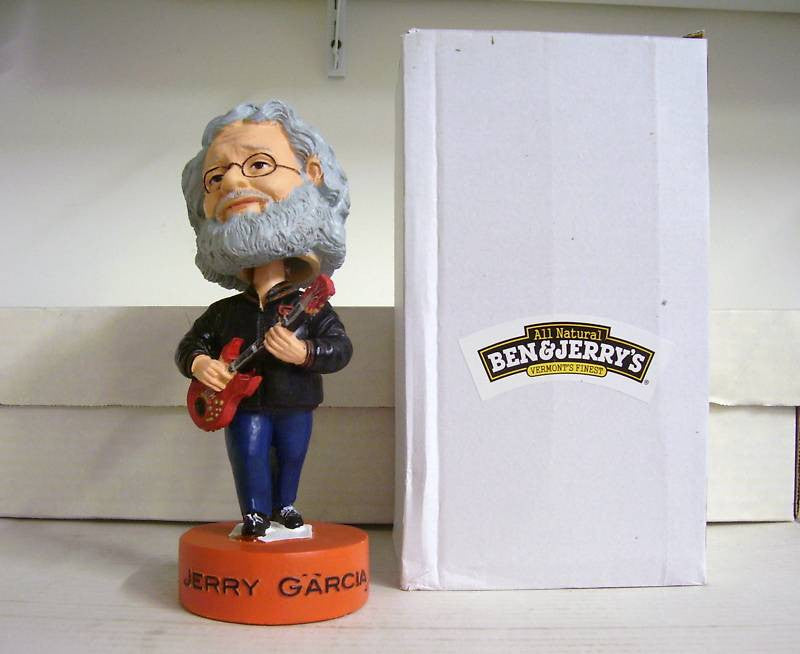 Jerry Garcia Bobblehead and Concert Ticket - BobblesGalore