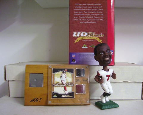 Michael Vick Bobblehead, Jersey, and Ball