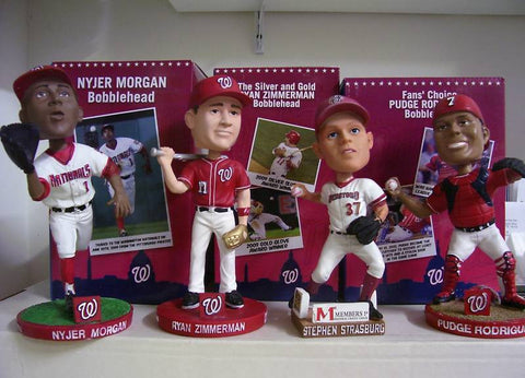2010 Washington Nationals Bobblehead Set