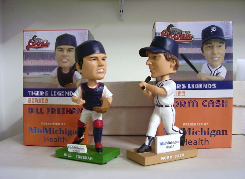 Bill Freehan and Norm Cash Bobblehead Set