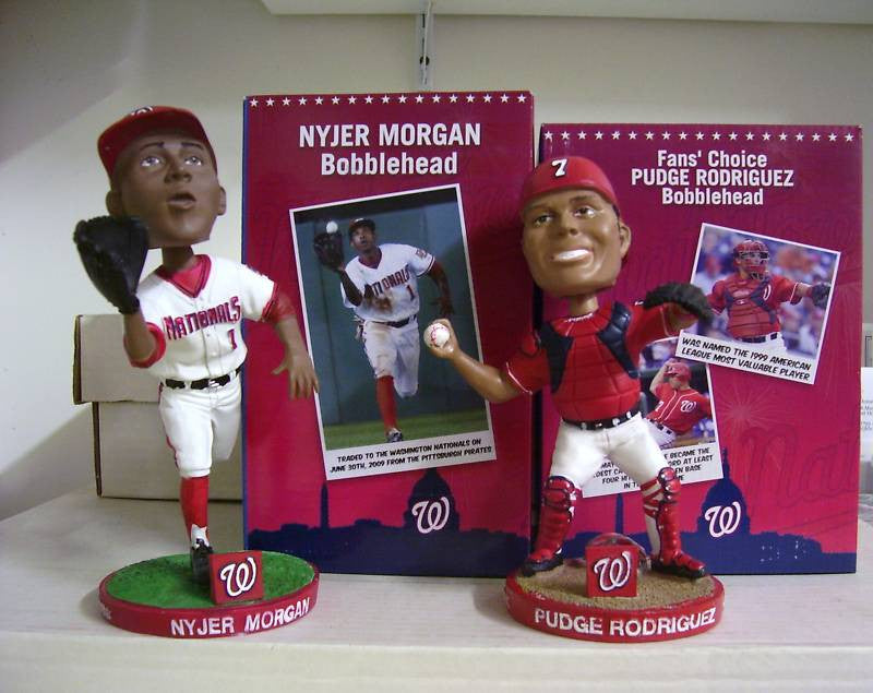 Nyjer Morgan and Ivan Rodriguez Bobblehead Set - BobblesGalore