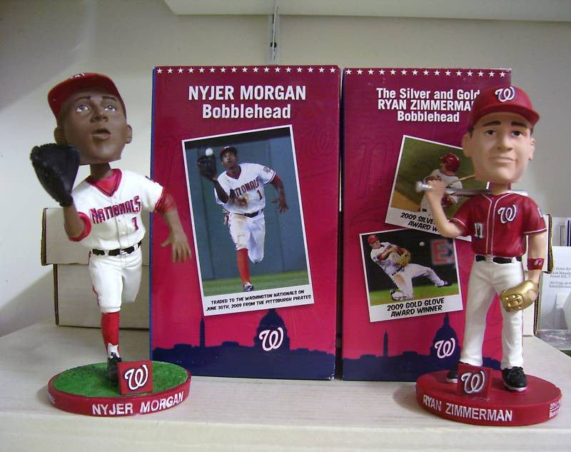 Nyjer Morgan and Ryan Zimmerman Bobblehead Set - BobblesGalore