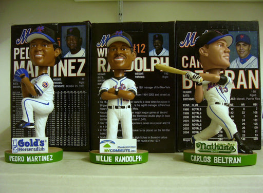 Pedro Martinez, Willie Randolph, and Carlos Beltran Bobblehead Set - BobblesGalore