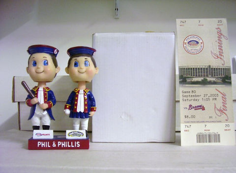 Phil and Phillis Dual Mascot Bobblehead - BobblesGalore
