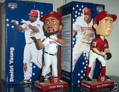 Ryan Zimmerman and Dmitri Young Bobblehead Set - BobblesGalore