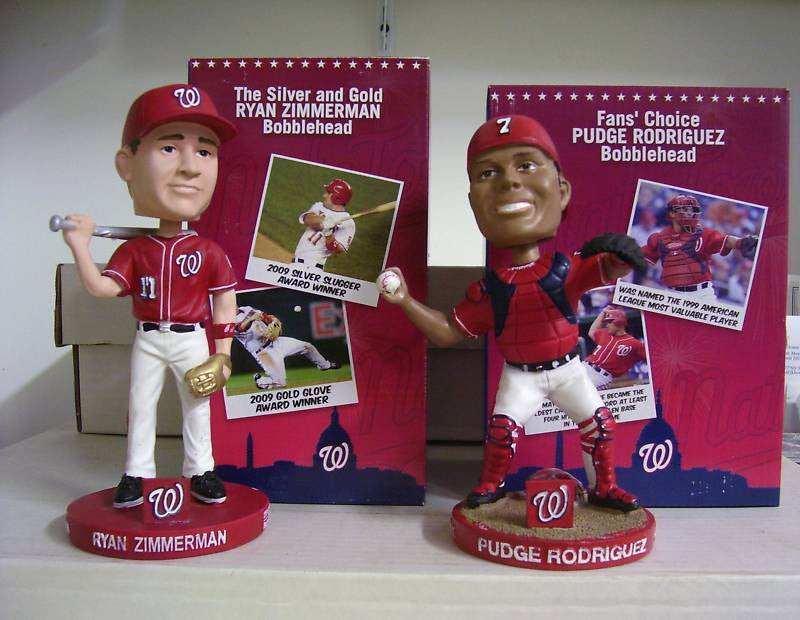 Ryan Zimmerman and Ivan Rodriguez Bobblehead Set - BobblesGalore