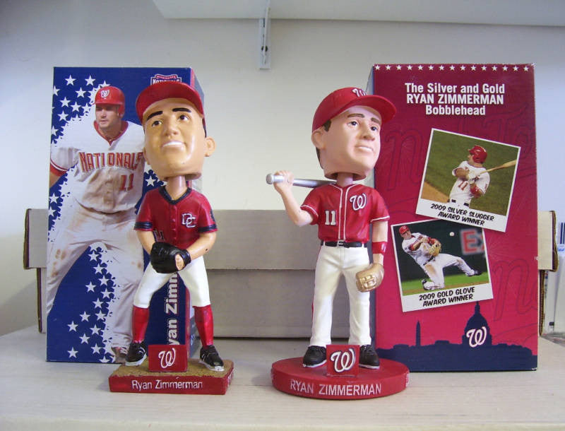 Ryan Zimmerman Bobblehead Set - BobblesGalore