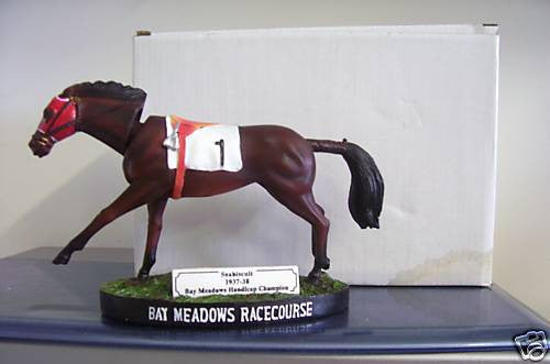 Seabiscuit Bay Meadows Bobblehead - BobblesGalore