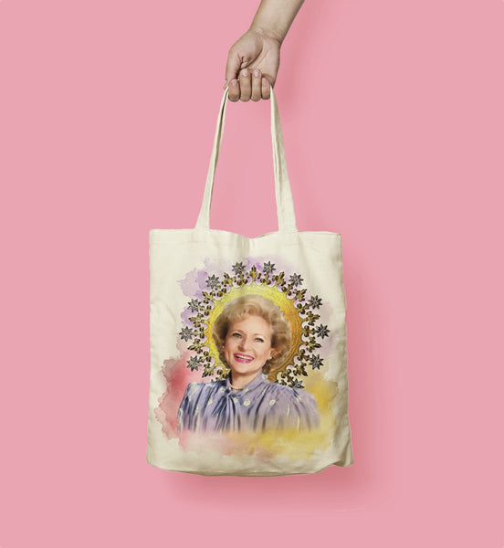 Betty White Tote Bag