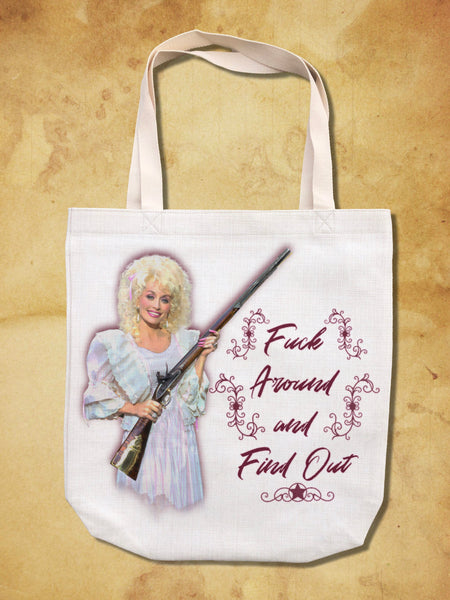 "Dolly Parton ""Find Out"" Tote Bag"