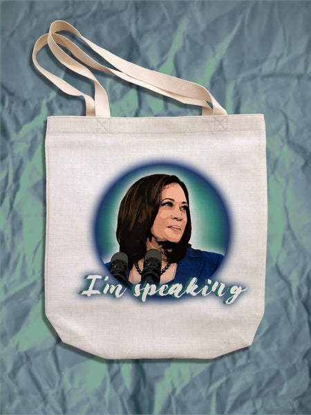 "Kamala Harris ""I'm Speaking"" Tote Bag"