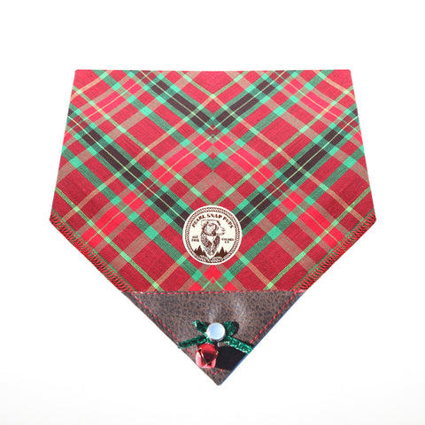 Jingle Bell Plaid Bandana