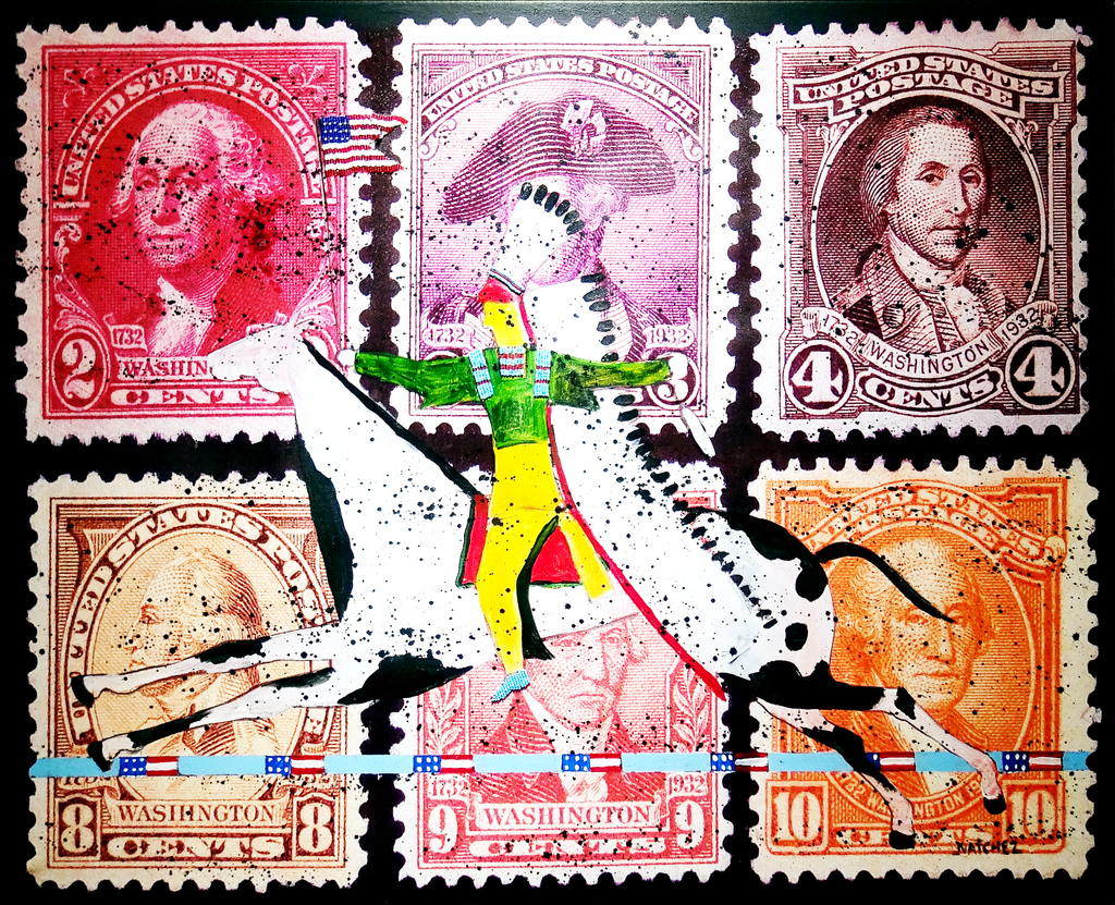 running horse stamps