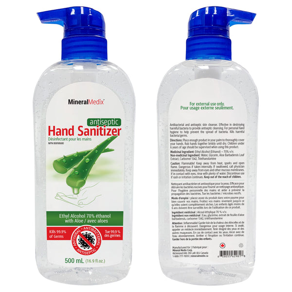 Antiseptic Hand Sanitizer 500ml with Pump, Case of 36pcs, $4.99ea