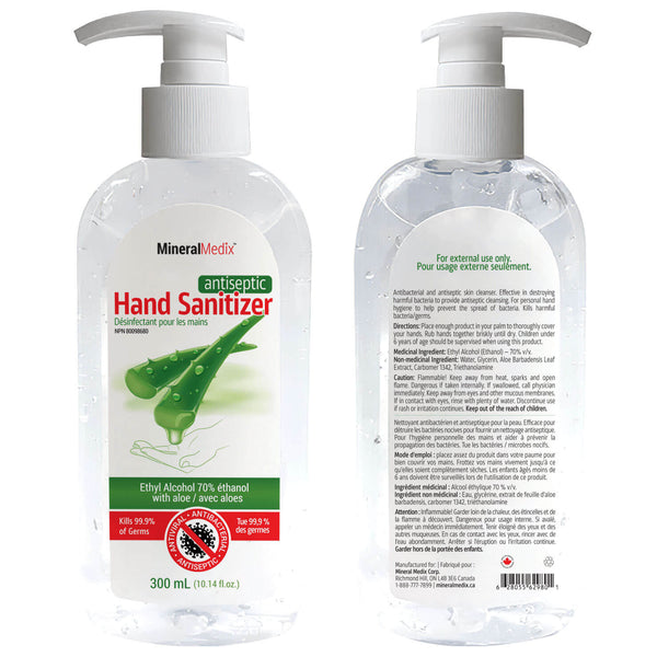 Antiseptic Hand Sanitizer 300ml with Pump, Case of 48pcs, $1.99ea