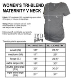 Heather Gray Maternity V Neck Size Chart - It's Your Day Clothing