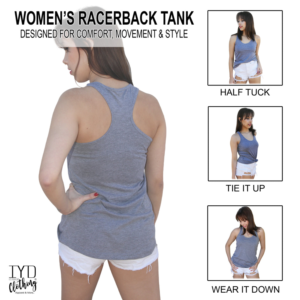 Women's Racerback Tank Top Styling Options - It's Your Day Clothing