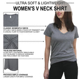 Heather Gray Women's V Neck Details - It's Your Day Clothing