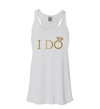 Gold I Do or I Do Crew Flowy Tank - It's Your Day Clothing