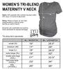 Women's Heather Gray Maternity V Neck Size Chart - It's Your Day Clothing