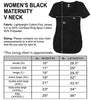 Women's Black Maternity V Neck Size Chart - It's Your Day Clothing