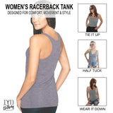 Women's Heather Gray Racerback Tank Top Styling Options