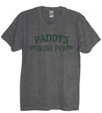 Heather Gray Paddy's Irish Pub Crew Neck With Green Print - It's Your Day Clothing